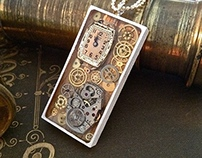 Wooden bi-color pendant. Unique piece.