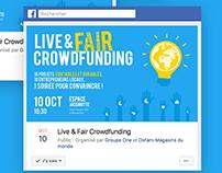 "Affiche // "" Live &Fair Crowdfunding """