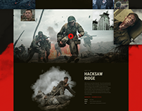 Free Design Landing Page For War Film