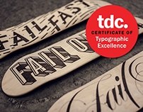 Fail Boards - Wood Burned Type Skateboards