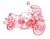 Bike sketch/ cartooning