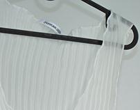 Garment: Low Neck Tank in Pleated Georgette