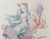 Mermaid Aquarel