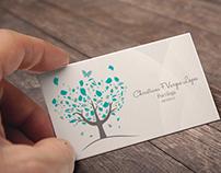 Logo e cartão de visitas - Psicóloga Christiani Lopes