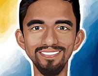 AJ Delagarza caricature