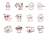 Fondue the French Bulldog Character LINE Stickers