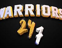 Warriors 24/7 | Cinema 4D | T-Shirt Design