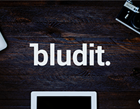 Bludit. – logo & website redesign