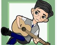 Glasses and Guitar