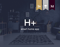 H+ Home Management Mobile App | UX & UI