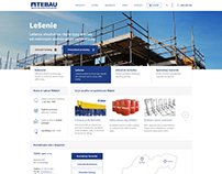 Corporate website for construction equipment seller