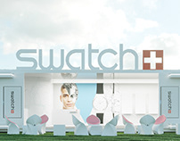 SWATCH. Exhibition stand at FACES&LACES