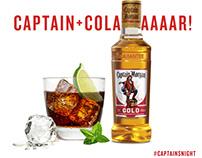 Captain Morgan Gold Social Media Art Dec 2017