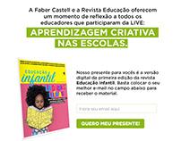 Revista Educação + Faber Castel - Landing Page
