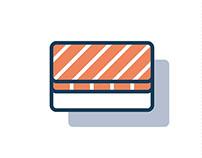 Free sushi icon set