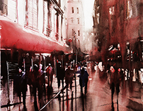 Montmartre Serie (Paris) - Watercolor paintings