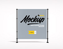Wide Banner Stand Mockup
