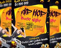 Hip Hop Night - Club A5 Flyer Template