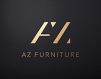 AZ Furniture logo design adn home page