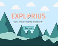 Landing page - Explorius