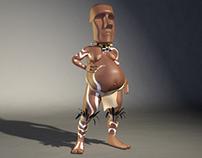 """Rapa Nui"" - Easter Island Character"