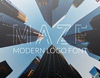 Maze Modern Logo Font!