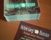 Business Card Design : Michele Giorgi illustrator