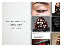 MILANEZ HAIR SALON - Social Media Portfolio