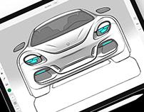 Car sketches (2019)