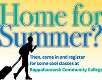 Postcard for summer enrollment at Rappahannock CommColl