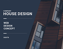 House Design - website concept.