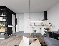 Small apartment interior in Warsaw, Poland № 009