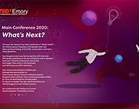 TEDxEmory 2020: What's Next Branding & Concept Design