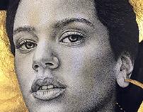 Black & Gold - Rosalía tribute