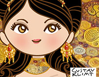 Lady Golden. Tribute to Gustav Klimt