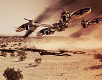 Military HUNTER Drone Concept