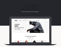 E-commerce Responsive Web-design for clothes shop