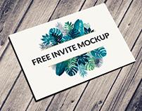 Free Postcard & Invitation Mockup Psd Download