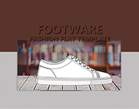 Footwear Fashion Flat Template