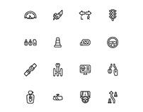 Driving School Icons Set