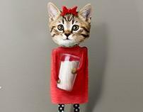 Cat drinks milk - Titta Maten