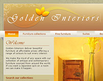 Golden Interiors Home and gifts website design