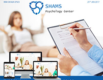 SHAMS PSYCHOLOGY CNETER - PSD WEB DESIGN