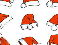 Vector Santa's hat icon set