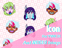 Icons For Twich