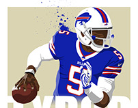 Tyrod Taylor Illustration