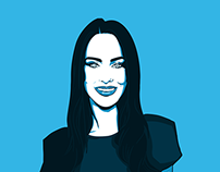 Illustration - Jessica Lowndes Pop Art