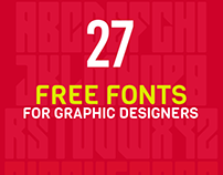 27 Free Fonts Useful for Graphic Designers