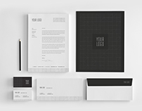 Minimal Premium Black Stationery