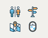 Wayfinding and Airport filled icons